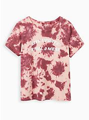 Everyday Tee - Signature Jersey Life Update Rose Tie-Dye , ROSE, hi-res