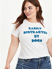 Everyday Tee - Signature Jersey White Easily Distracted, BRIGHT WHITE, alternate