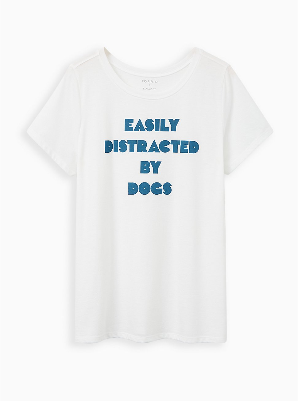 Everyday Tee - Signature Jersey White Easily Distracted, BRIGHT WHITE, hi-res
