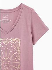 Girlfriend Tee - Signature Jersey Purple Tarot Sun, GRAPE, alternate