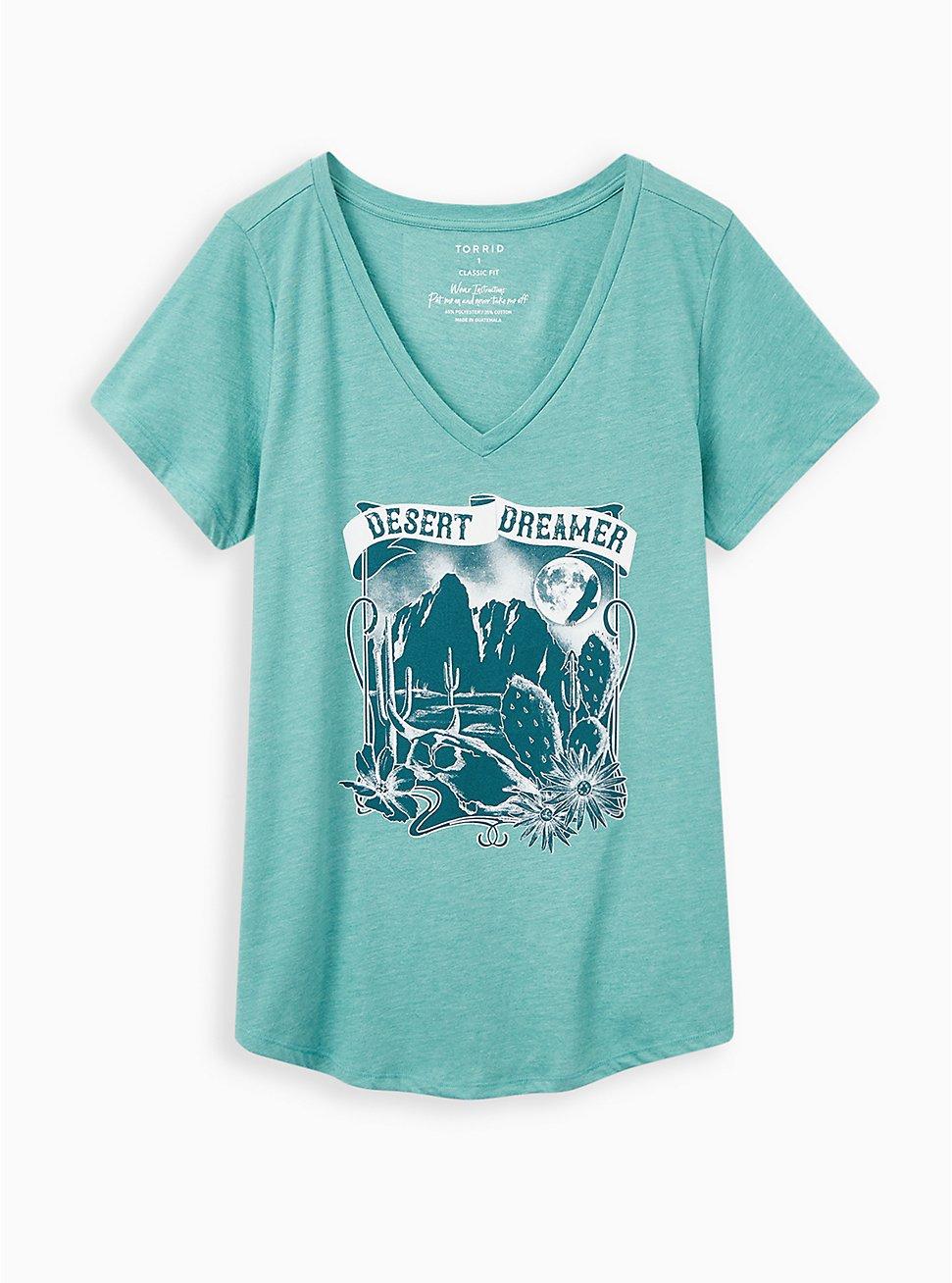 Girlfriend Tee - Signature Jersey Desert Dreamer Mineral Wash Green, GREEN, hi-res