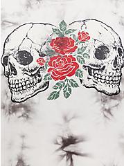 Perfect Tee - Super Soft Skulls Tie-Dye White, TIE DYE - WHITE, alternate