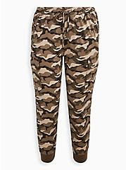 Plus Size Relaxed Fit Cargo Crop Jogger - Stretch Challis Camo Wash, CAMO, hi-res