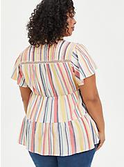 Babydoll Tunic - Rayon Multi Stripe, STRIPE - MULTI, alternate