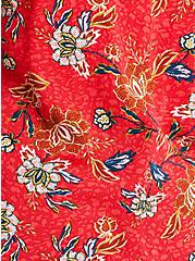 Ava - Textured Stretch Rayon Red Floral Cami, FLORAL - RED, alternate