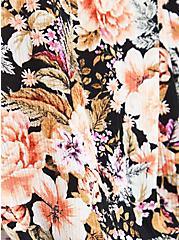 Tank Top - Crinkle Gauze Floral Black, FLORAL - BLACK, alternate