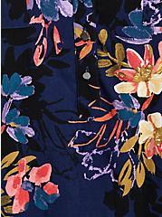 Harper - Navy Floral Textured Stretch Rayon Pullover Tank, FLORAL - BLUE, alternate