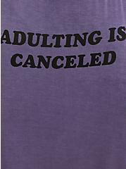 Sleep Babydoll - Super Soft Adulting Is Canceled Purple, PURPLE, alternate