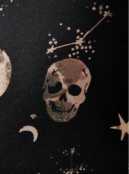 Sleep Babydoll Tunic - Super Soft Skulls Black, MULTI, alternate