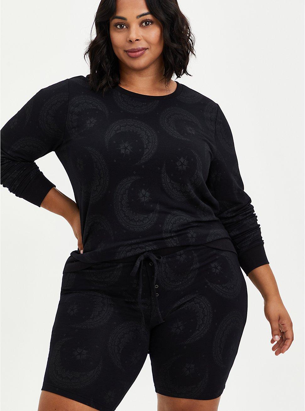 Sleep Sweatshirt - Micro Modal Terry Moon Black, MULTI, hi-res
