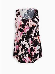 Sleep Tank -  Super Soft Pink & Black Tie Dye, MULTI, hi-res