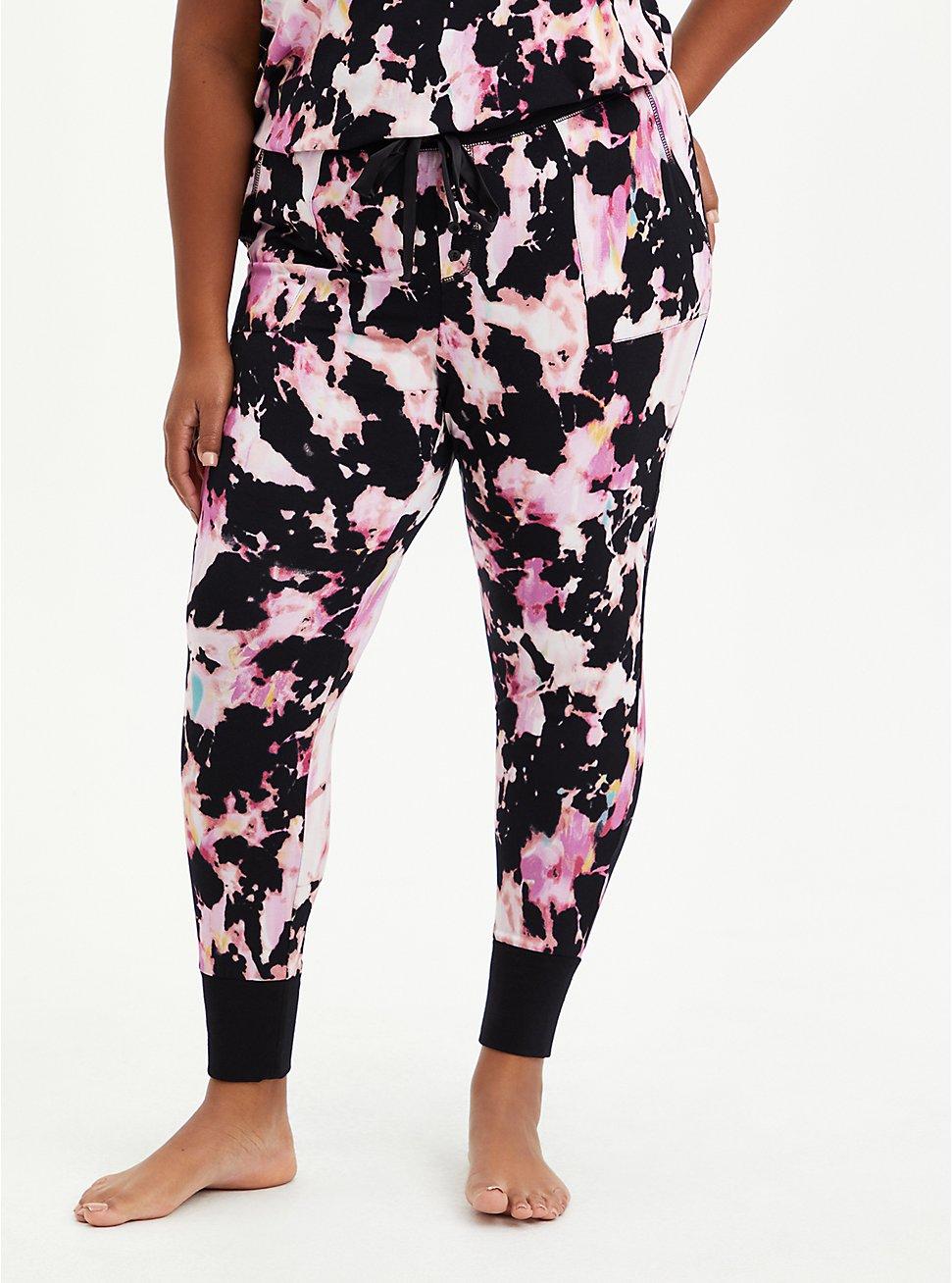 Sleep Legging - Super Soft Pink & Black Tie Dye , MULTI, hi-res