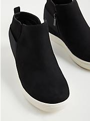 Sneaker Wedge - Faux Suede Black (WW), BLACK, alternate