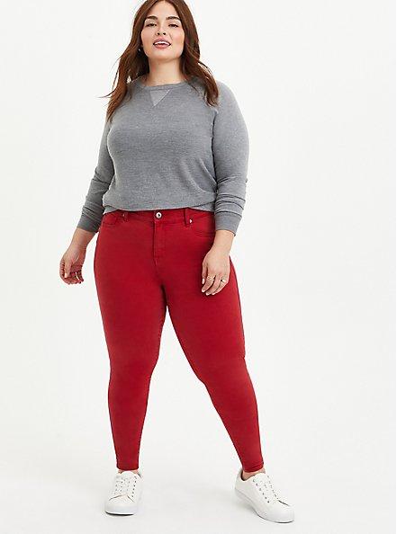 Bombshell Skinny Jean - Super Soft Red, CHILI PEPPER, alternate