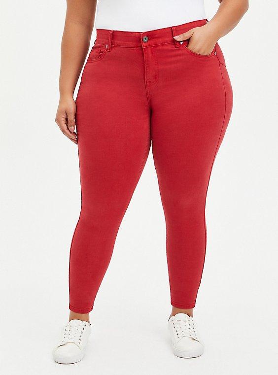 Bombshell Skinny Jean - Super Soft Red, CHILI PEPPER, hi-res
