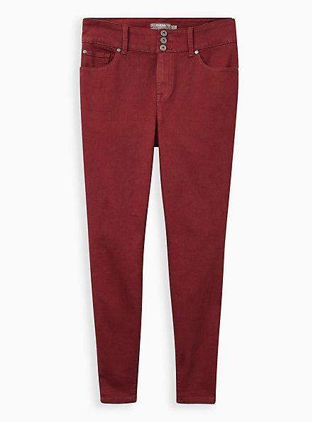 Jegging - Super Soft Dark Red, ZINFANDEL, hi-res