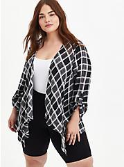 Kimono - Gauze Plaid, MULTI, hi-res