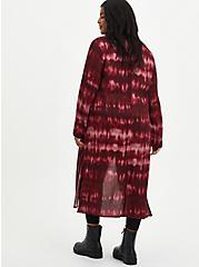 Wine Tie Dye Gauze Kimono, TIE DYE, alternate