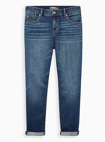 Boyfriend Straight Jean - Vintage Stretch Medium Wash, AFTERNOON DELIGHT, hi-res