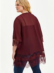 Lace Kimono - Chiffon Wine, , alternate