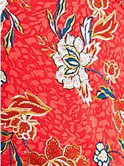 Babydoll Jacket - Crepe Floral Red, FLORAL - RED, alternate