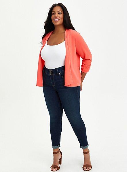 Drape Front Blazer - Crepe Pink, DUBARRY, alternate