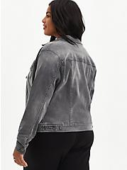 Grey Super Soft Denim Jacket, FALCON, alternate