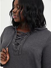 Lace-Up Hoodie - Disney Hocus Pocus Sanderson Charcoal Heather, CHARCOAL HEATHER, alternate
