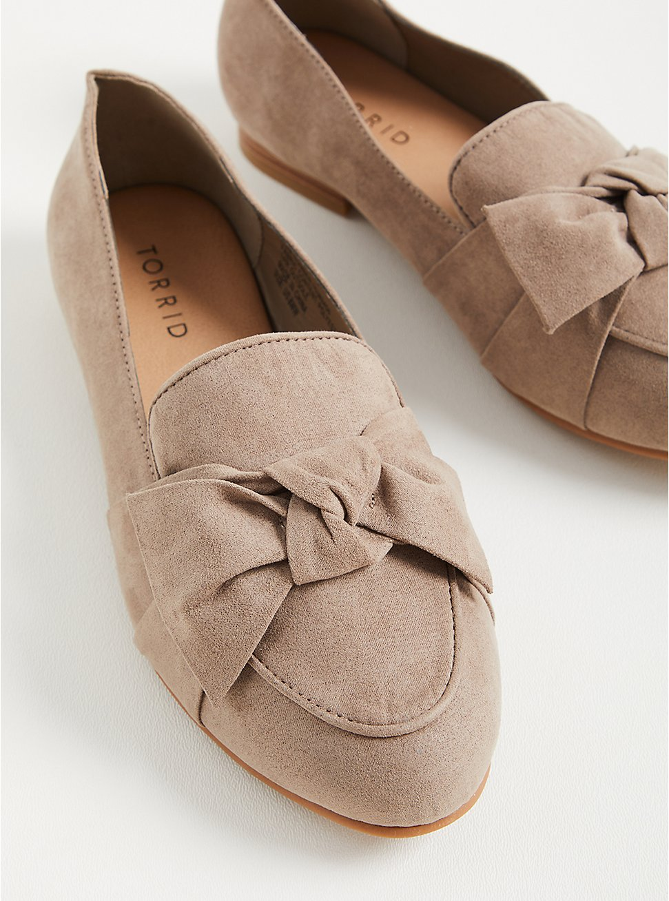 Twist Front Loafer (WW) - Faux Suede Taupe, TAUPE, hi-res