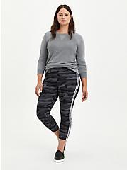 Crop Premium Side Stripe Legging - Camo, CAMO, alternate