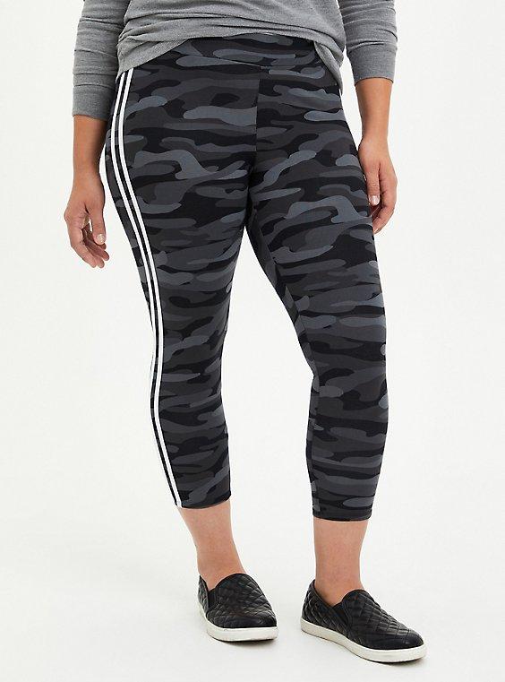 Crop Premium Side Stripe Legging - Camo, CAMO, hi-res