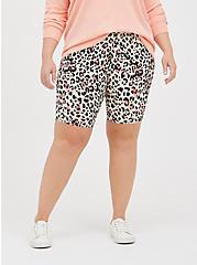 Bike Short - Watercolor Leopard, ANIMAL, alternate