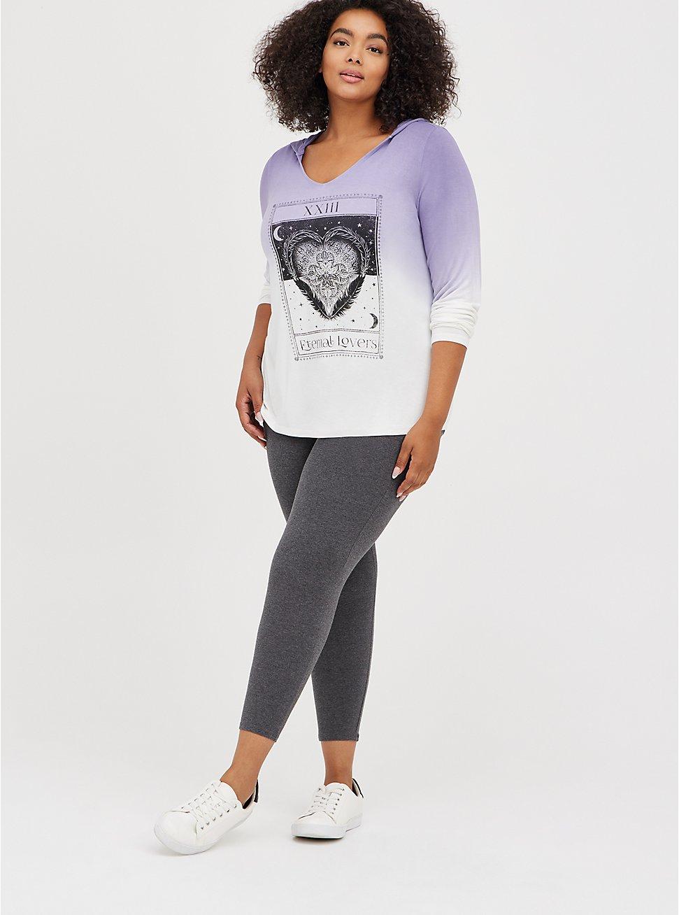 Crop Premium Legging with Pockets - Charcoal Grey, GREY, hi-res