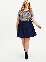 Skater Skirt - Twill Navy, PEACOAT, alternate