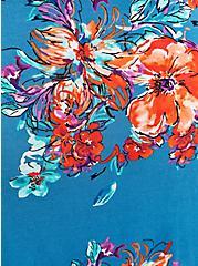 Cold Shoulder Fit & Flare Dress - Super Soft Floral Blue, FLORAL - BLUE, alternate