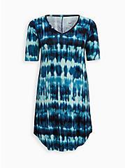 T-Shirt Dress - Jersey Tie Dye Blue, TIE DYE-BLUE, hi-res