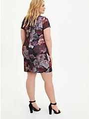 Plus Size Convertible Scuba Skater Dress - Organza Floral Black, FLORAL - BLACK, alternate