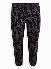 Crop Legging - Disney Mickey & Friends Black Grey, BLACK  GREY, hi-res