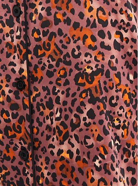 Sleep Gown - Stretch Satin Leopard, MULTI, alternate