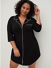 Sleep Dress - Super Soft Black, DEEP BLACK, alternate