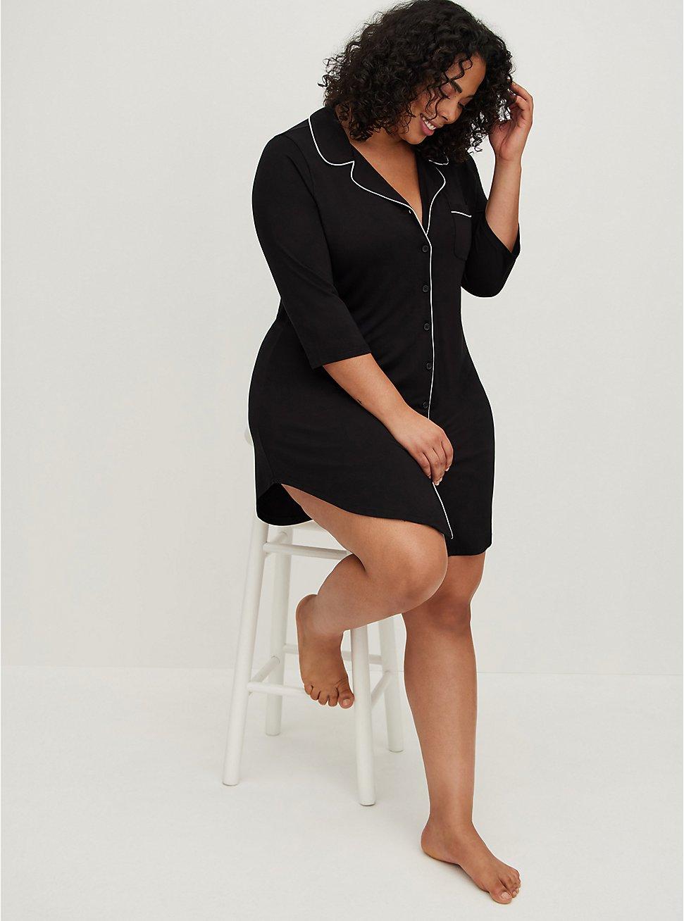Sleep Dress - Super Soft Black, DEEP BLACK, hi-res