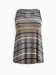 Plus Size Sleep Tank - Super Soft Rib Stripe Grey, MULTI STRIPE, hi-res