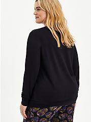 Sleep Sweatshirt - Micro Modal Skull Black, DEEP BLACK, alternate