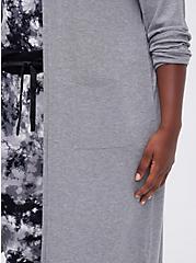 Hooded Sleep Robe - Super Soft Grey, GREY, alternate