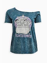 Off-Shoulder Top - Warner Bros. The Flintstones Mineral Wash , MIDNIGHT, hi-res