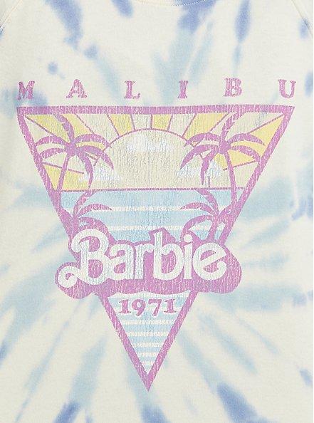 Mattel Barbie Sweatshirt - Fleece Malibu Tie Dye, TIE DYE-BLUE, alternate