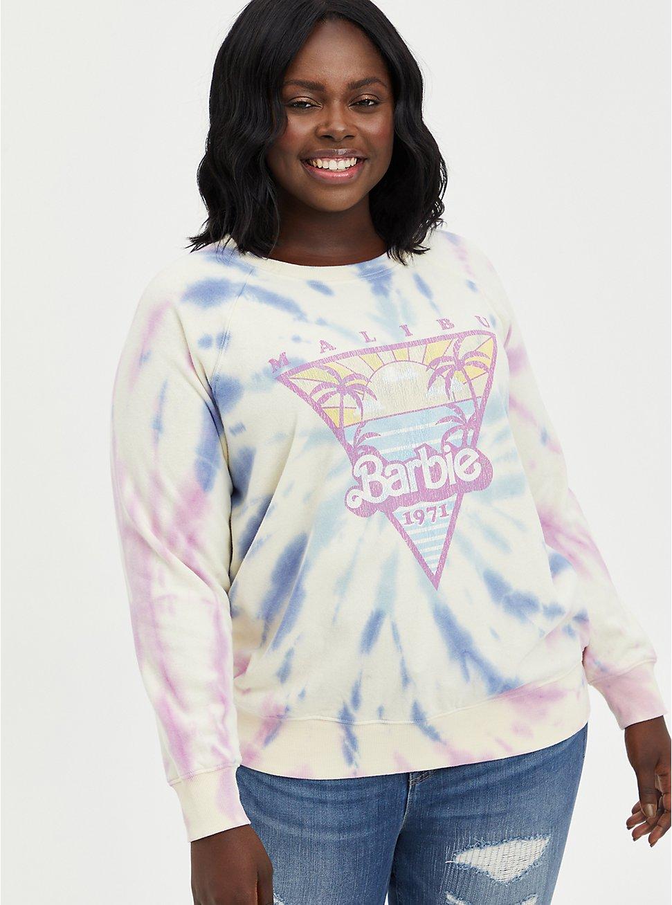Mattel Barbie Sweatshirt - Fleece Malibu Tie Dye, TIE DYE-BLUE, hi-res