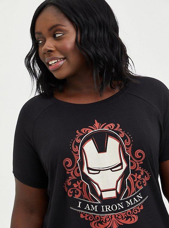 Raglan Top - Marvel Iron Man, DEEP BLACK, hi-res