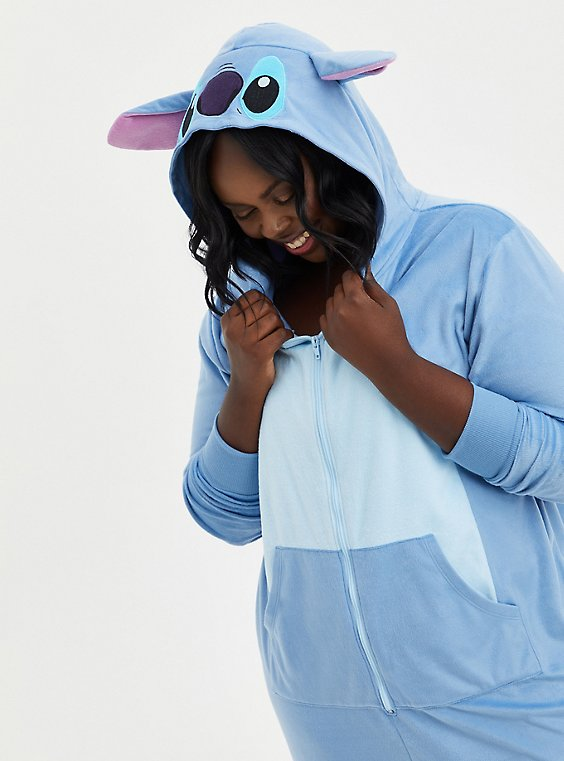 Onesie Pajamas - Disney Lilo & Stitch, BLUE, hi-res