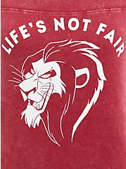 Classic Fit Crew Tee - Disney Lion King Scar Not Fair Mineral Wash, RUMBA RED, alternate